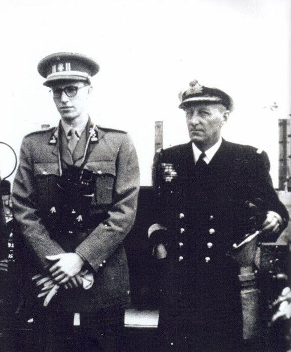 Commodore Georges Timmermans with King Baudoin I